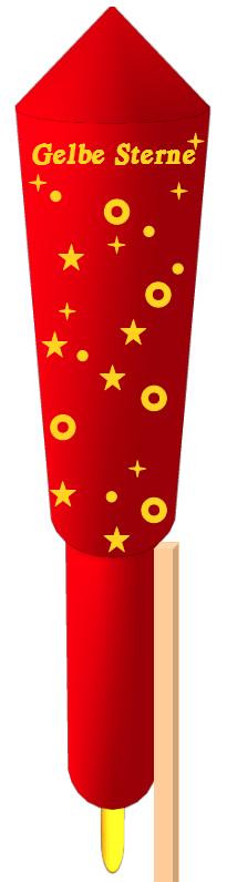 Gelbe_Sterne_Rakete_3D